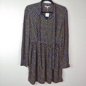 NWT Bonpoint Blue Heart Feuille Mini Dress